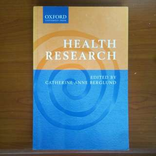 Health Research, edited by Catherine Anne Berglund