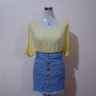 BOSSINI Sheer Yellow Top