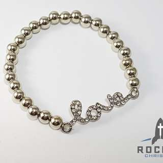 "Silver ""Love"" Bracelet *In Stock"