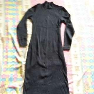 Dress hitam ( Bahan karet)