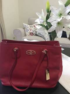 Coach red tote bag