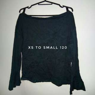 Dark Green Off Shoulder Top