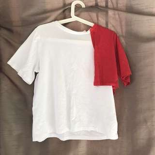 White and Red Shirt