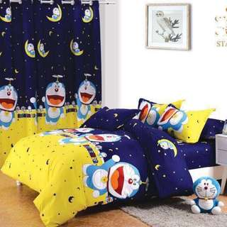 Premium Character Bed Sheet 4 in 1 Set (Doraemon K9)