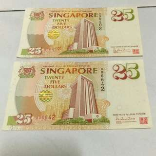 $25 Singapore Commemorative Note