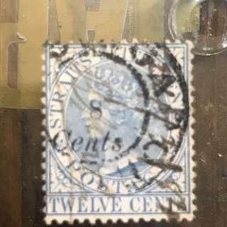 Straits settlement overprint - 264