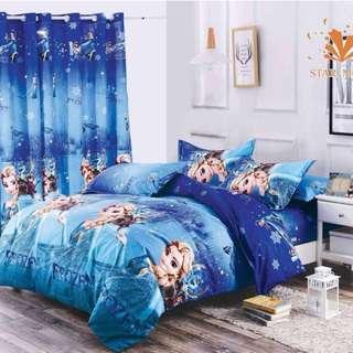 Premium Character Bed Sheet 4 in 1 Set (Frozen K5)