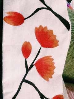 Handmade Lukisan di scarf bekas SNMPTN