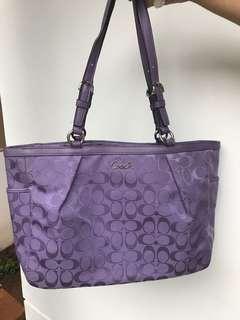 Coach purple tote bag