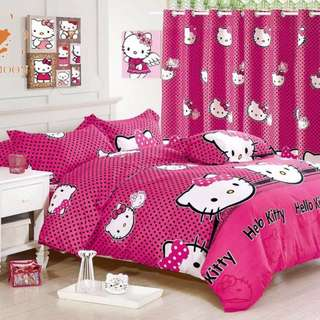 Premium Character Bed Sheet 4 in 1 Set (Hello Kitty K2)