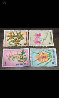 Singapore 1962 orchids 4v stamps MNH very fresh