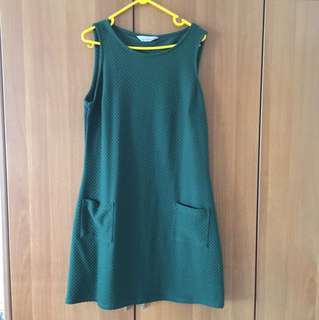 Green Sleeveless Shift Dress Dorothy Perkins