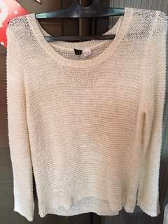 H&M BASIC KNITWEAR SWEATSHIRT