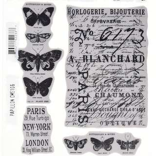 Tim holtz rubber stamp - Stampers Anonymous Papillon CMS 106