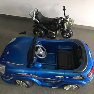 Car and motorcylce kids toy