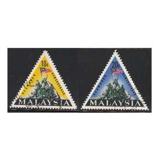 MALAYSIA 1966 National Monument, Kuala Lumpur set of 2V used SG #31-32 (A)