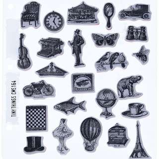 Tim holtz rubber stamp - Stampers Anonymous Tiny Things CMS 164