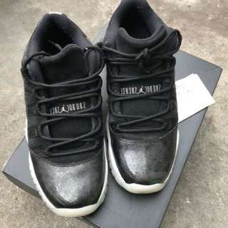 🚚 Air Jordan 11 low barons 女鞋 黑 6y 近全新 台灣公司貨(附發票)