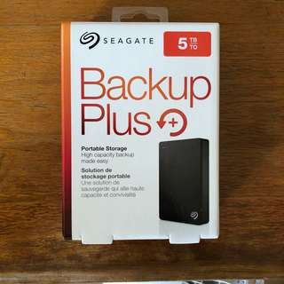 5TB Seagate Backup Plus Portable Hard Disk Drive HDD