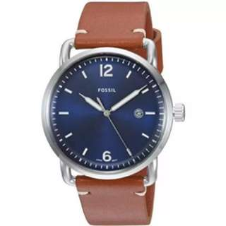 [PROMO SALE] Fossil Mens The Commuter Three-Hand Date Luggage Leather Watch