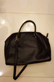 H&M leather bag hitam - preloved