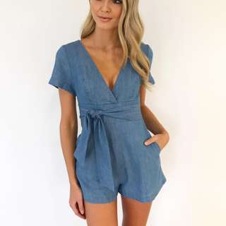 KOOKAI DENIM DILLION PLAYSUIT