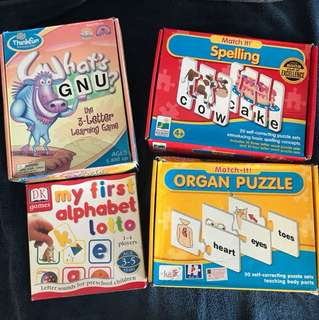 Mixed puzzles and word games for kids