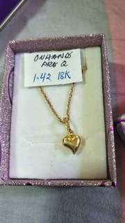 On hands 18 k