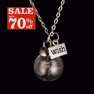 Dandelion Wish Crystal Ball Necklace *In Stock
