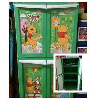 Lemari plastik lemari pakaian lemari serbaguna napolly pooh