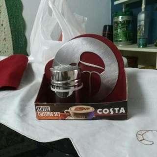 Costa coffee dusting set