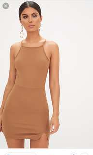 Pretty Little Thing Camel Split Dress