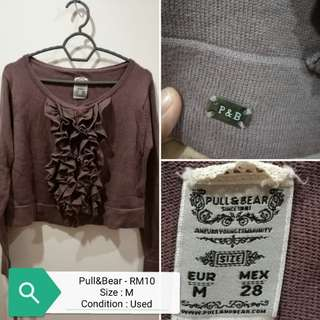Pull&bear cropped knitted cardigan