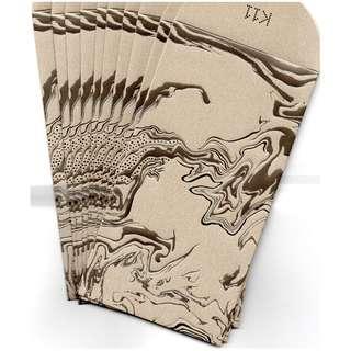 2018 K11 商場 啡金色 利是封 紅封包 長封 1包10個 限量版 商場紀念品