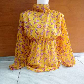 Blouse flower orange