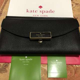 💯% Authentic Kate Spade Braxton Place Jean Leather Clutch Wallet