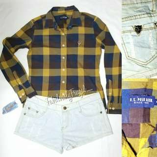 Polo checkered with tattered Shorts