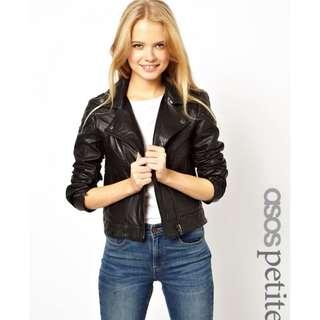 ASOS Black Biker Leather Jacket