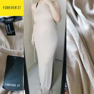 Auth F21 halter maxi dress