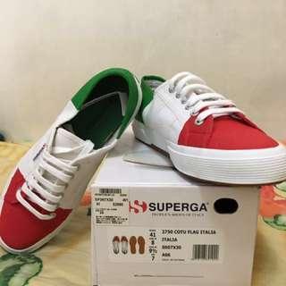 Superga 帆布鞋 義大利配色