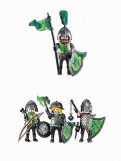 Playmobil Add-On 6384 Wolf Knight Leader & 6383 Wolf Knights