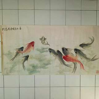 80s Chinese Painting Landscape size 128x63cm