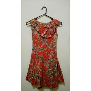 Batik Ribbon Dress