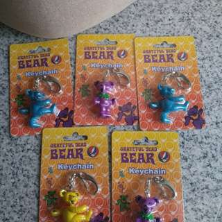 Grateful Dead Bear Keychains