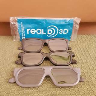 3D Glass 眼鏡 戲院專用 (3副價)