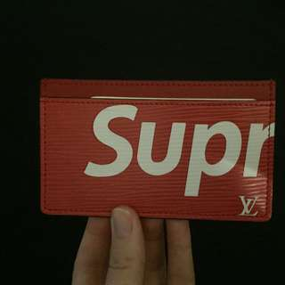 Brand New LV x Supreme Card Holder