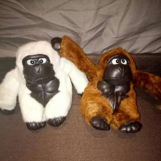 Soft toys - Gorillas ( 2 for price of 1 )