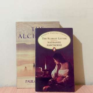 SALE: Paulo Coelho - The Alchemist; The Scarlet Letter