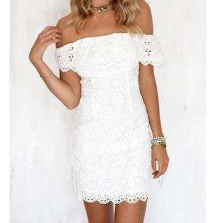 NEW! Lovely White Crochet Dress