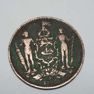 Old coin1886 year